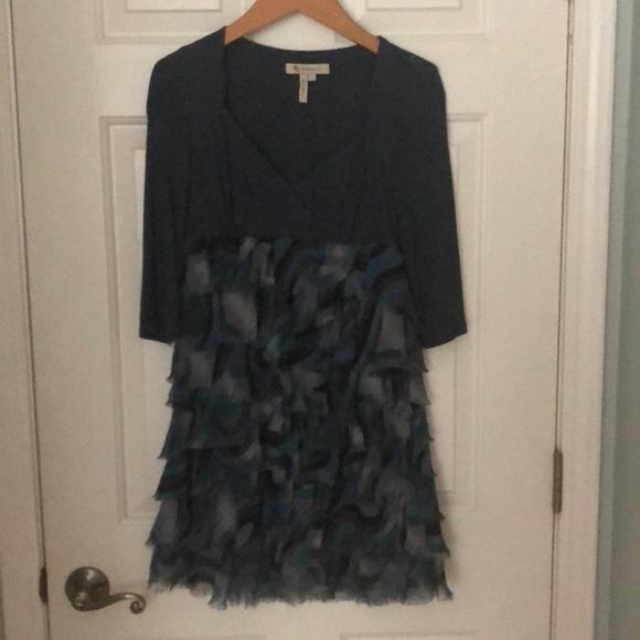 BCBG Dresses & Skirts - BCBG Blue ruffle dress
